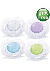 Succhietti trasparenti 0-6 mesi ortodontici e senza BPA